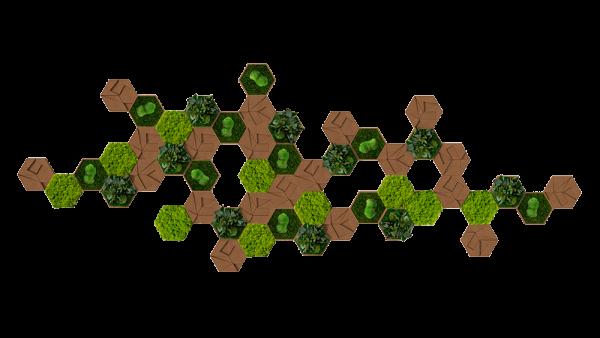 Kork-Hexagon 50er Set