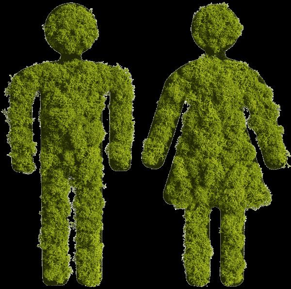 Moospiktogramm Mann und Frau