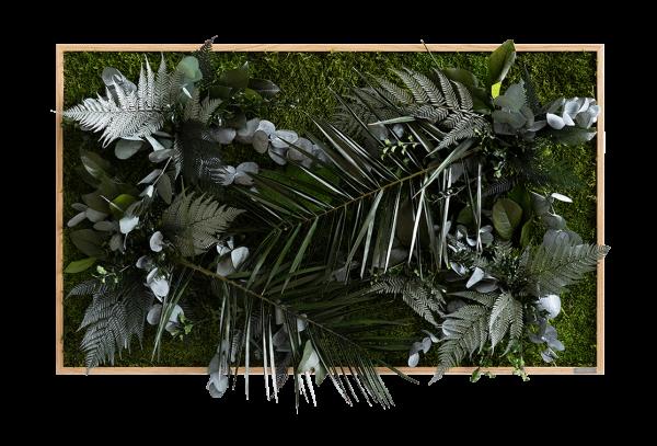 Pflanzenbild im Dschungeldesign 100x60